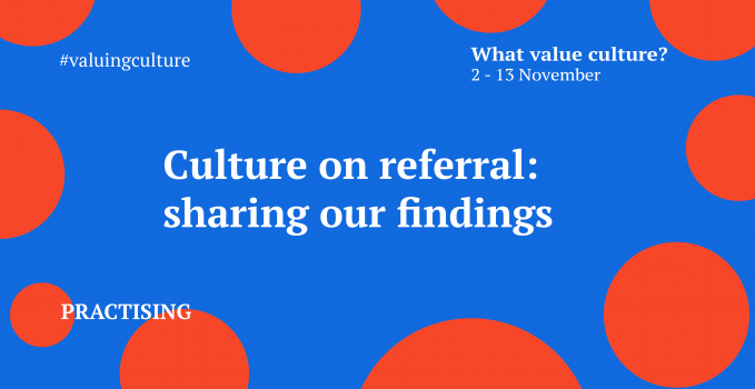 Culture on referral: sharing our findings