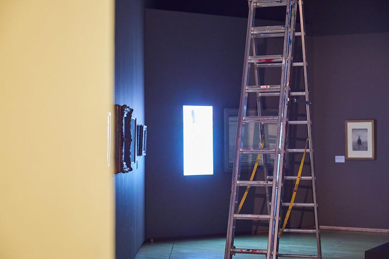 Gallery interior during lockdown